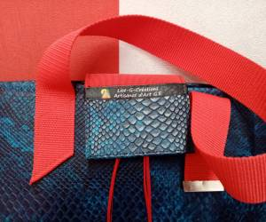 Serpent bleu cabas - collection privée