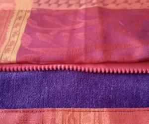 Sac petit modèle, port en bandoulière- violet et rouge